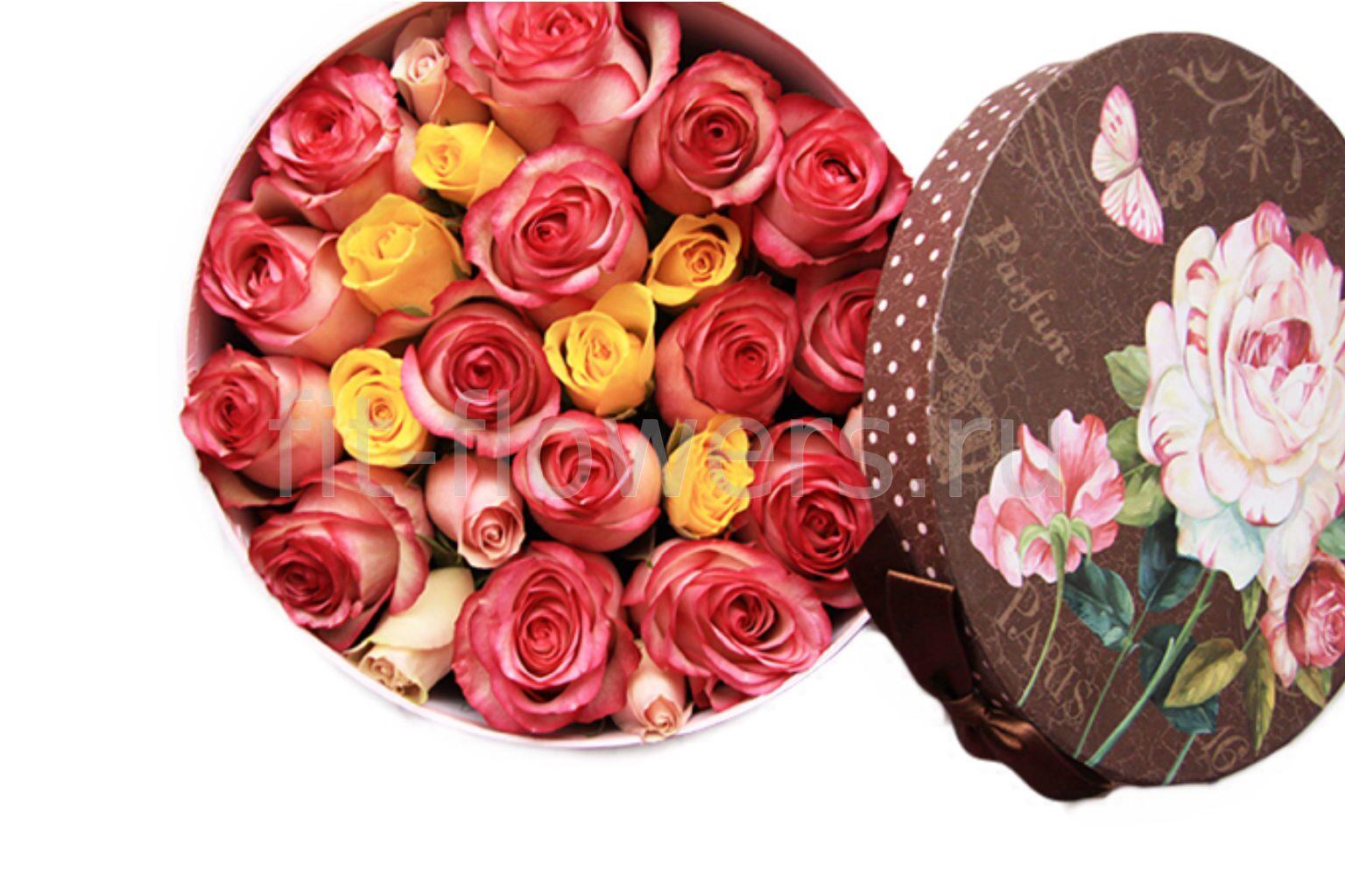 Как сделать живые розы в коробке подарочной самостоятельно